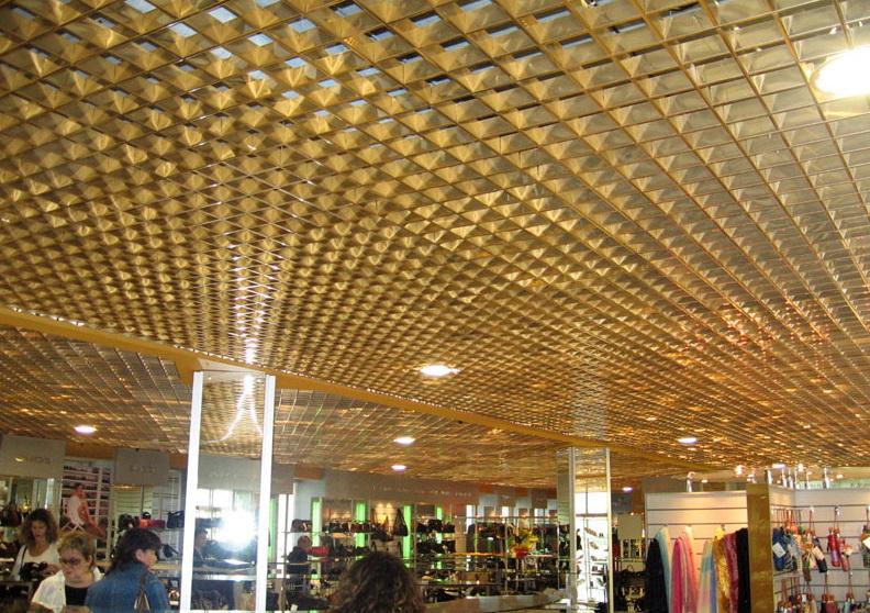 Грильято наиболее популярные алюминиевые потолки, представляющие из